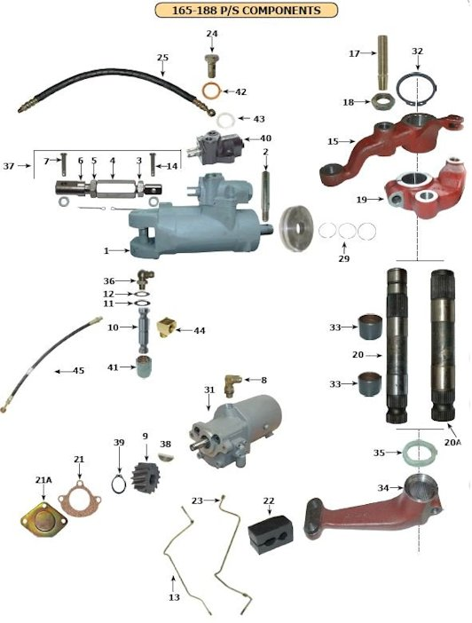 front axle and steering