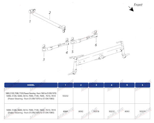 Front Axle And Steering. Ford Tierod 50318. Ford. Ford 2000 Tractor Front Axle Diagram At Scoala.co