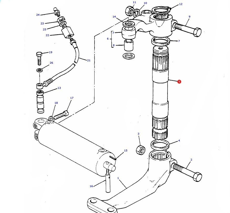 Massey Ferguson Power Steering Parts Diagram