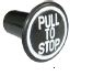 Pull to stop knob Black, (03602885)